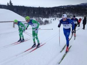 Brødrene Aukland på glatte ski,Brandsdal med festesmørning