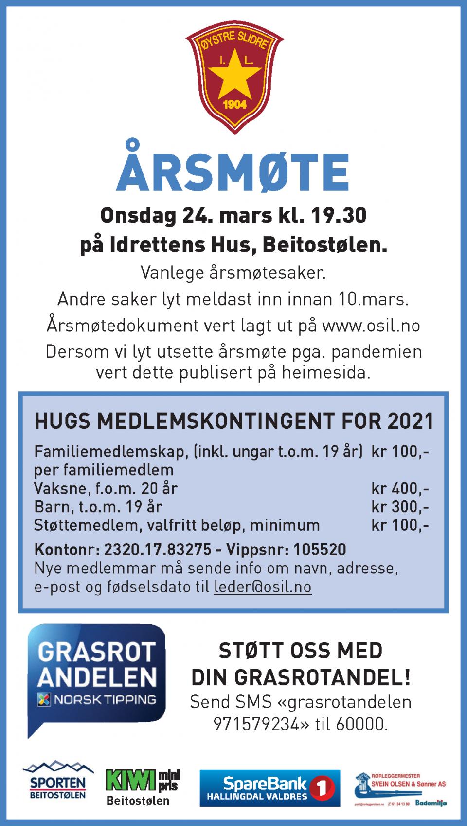ØSIL Årsmøte 2021